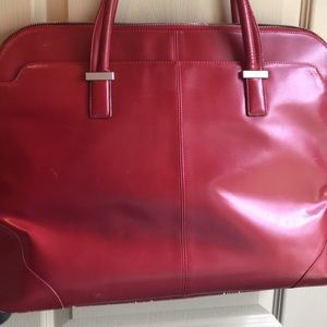 Handbags - Init Red Faux Leather Ladies Laptop bag